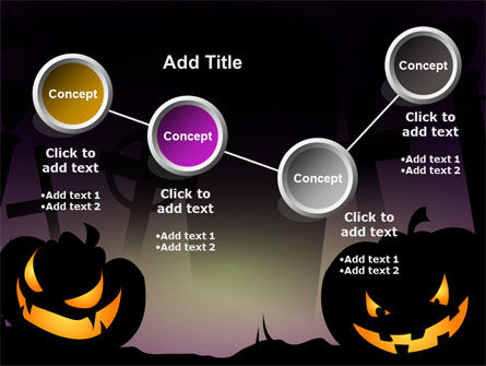 Free Violet Halloween Night PowerPoint Template Slide 6