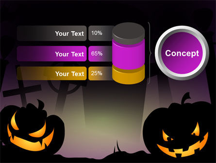 Free Violet Halloween Night PowerPoint Template Slide 8