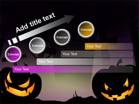 Free Violet Halloween Night PowerPoint Template Slide 9