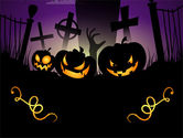 Holiday/Special Occasion: Modèle PowerPoint gratuit de violet halloween night #08868
