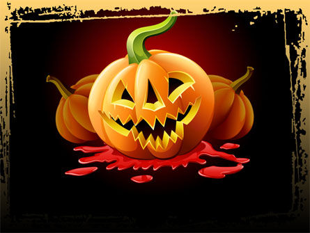 Jack-o-Lantern Free PowerPoint Template, 08869, Holiday/Special Occasion — PoweredTemplate.com