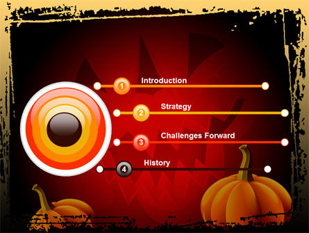 Jack-o-Lantern Free PowerPoint Template, Slide 3, 08869, Holiday/Special Occasion — PoweredTemplate.com