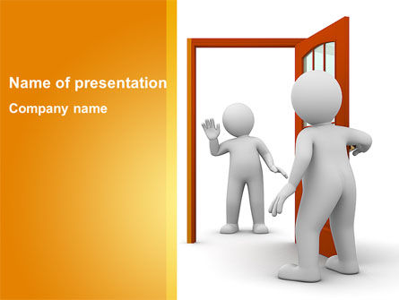People Meeting PowerPoint Template, 08871, People — PoweredTemplate.com