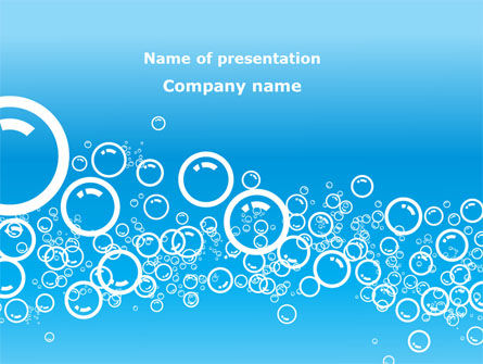 Abstract/Textures: Aqua Bubble PowerPoint Template #08872