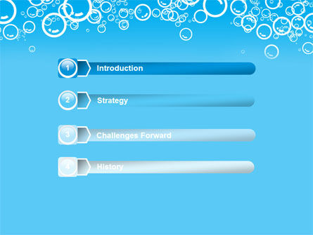 Aqua Bubble PowerPoint Template, Slide 3, 08872, Abstract/Textures — PoweredTemplate.com