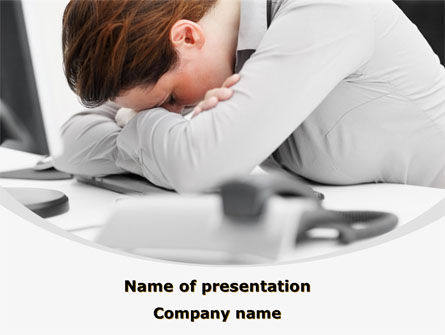 People: Tiredness PowerPoint Template #08873