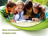 Education & Training: Childrens Reading Book PowerPoint Template #08875