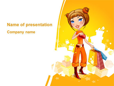 Lady Shopper PowerPoint Template