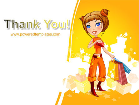 Lady Shopper PowerPoint Template Slide 20