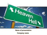 Religious/Spiritual: Heaven Or Hell PowerPoint Template #08877