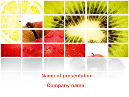 Fruits PowerPoint Template, 08878, Food & Beverage — PoweredTemplate.com
