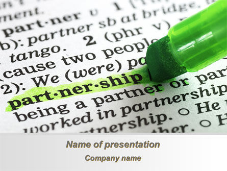 Definition Of Partnership PowerPoint Template