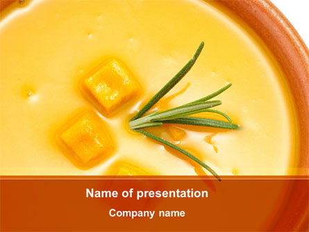Food & Beverage: Cremesuppe PowerPoint Vorlage #08886
