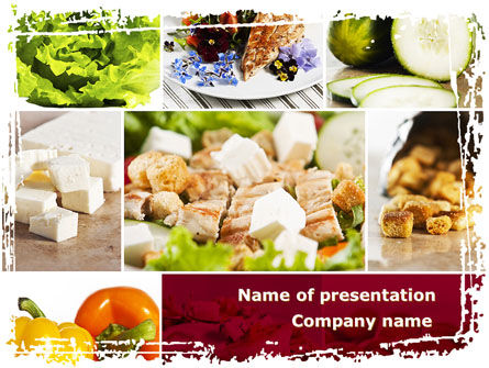 Food & Beverage: Chicken Salad PowerPoint Template #08889