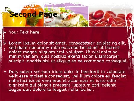 Chicken Salad PowerPoint Template, Slide 2, 08889, Food & Beverage — PoweredTemplate.com