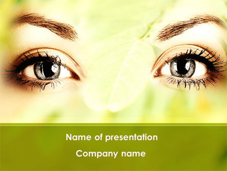 People: Natural Cosmetic PowerPoint Template #08890