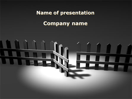 Business Concepts: Opening Door PowerPoint Template #08891