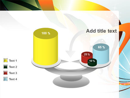 Abstract Yellow Orange Green Stripes PowerPoint Template Slide 10