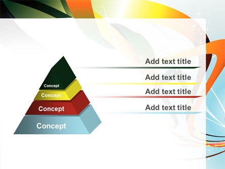 Abstract Yellow Orange Green Stripes PowerPoint Template Slide 12