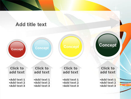 Abstract Yellow Orange Green Stripes PowerPoint Template Slide 13