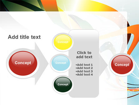 Abstract Yellow Orange Green Stripes PowerPoint Template Slide 17