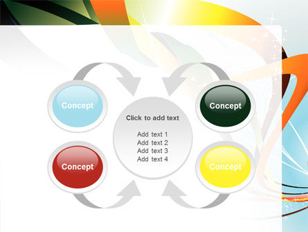 Abstract Yellow Orange Green Stripes PowerPoint Template Slide 6