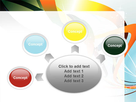 Abstract Yellow Orange Green Stripes PowerPoint Template Slide 7