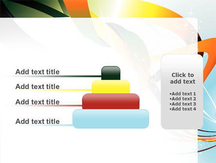 Abstract Yellow Orange Green Stripes PowerPoint Template Slide 8