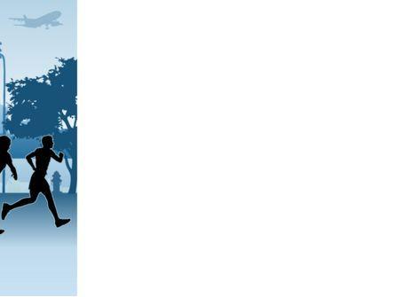 Jogging Theme PowerPoint Template, Slide 3, 08895, Sports — PoweredTemplate.com