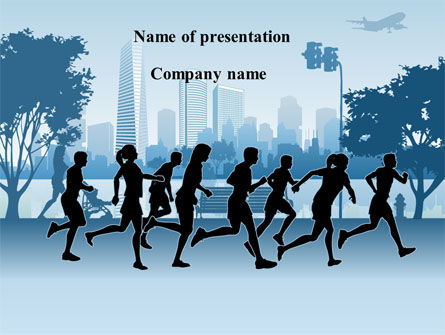 Sports: Jogging Theme PowerPoint Template #08895