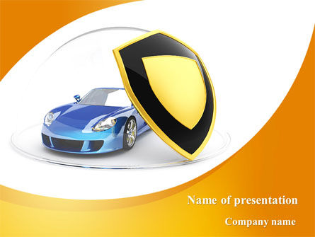 Car Insurance PowerPoint Template, 08896, Careers/Industry — PoweredTemplate.com