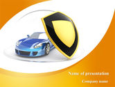 Careers/Industry: Car Insurance PowerPoint Template #08896