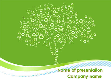 Painted Tree PowerPoint Template, 08897, Nature & Environment — PoweredTemplate.com
