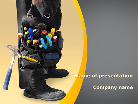 Utilities/Industrial: Tools Bag PowerPoint Template #08898