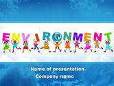 Nature & Environment: Environmentally World PowerPoint Template #08899