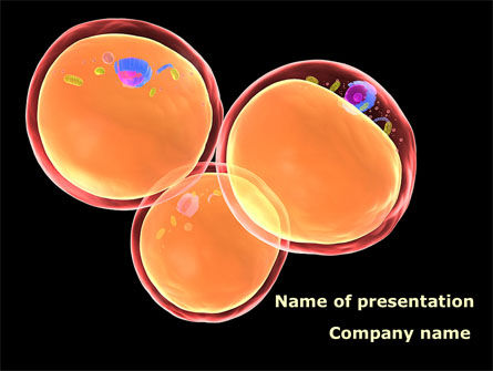 Medical: Cell Fission PowerPoint Template #08901