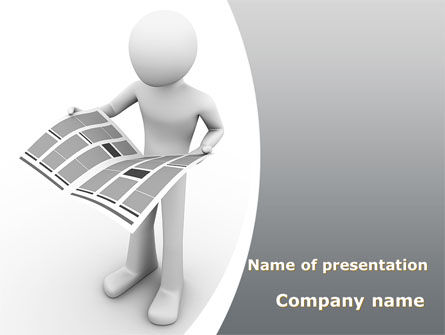 Hot News PowerPoint Template, 08902, Careers/Industry — PoweredTemplate.com