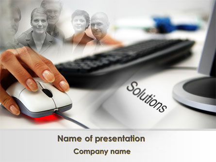 Computers: Computer Solution PowerPoint Template #08903