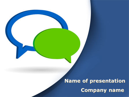 Telecommunication: Chatting Bubbles PowerPoint Template #08904