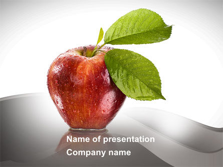 Business Concepts: Sweet Red Apple PowerPoint Template #08906