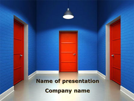 Search For A Way PowerPoint Template, 08907, Consulting — PoweredTemplate.com