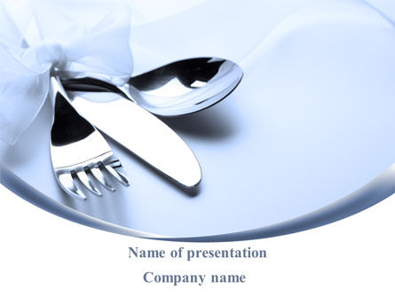 Careers/Industry: Table Set PowerPoint Template #08908
