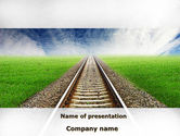 Business Concepts: Rails PowerPoint Template #08909