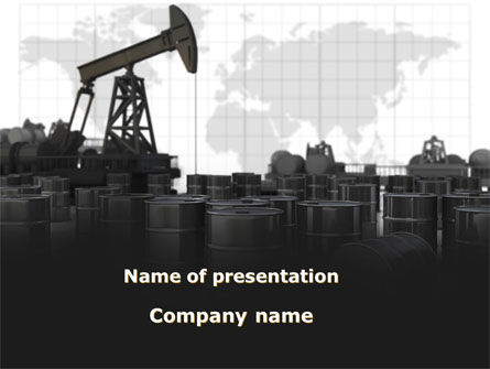 Utilities/Industrial: Oil Pump PowerPoint Template #08911