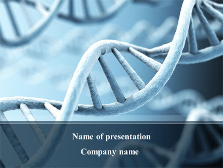 Medical: DNA Microphotography PowerPoint Template #08912