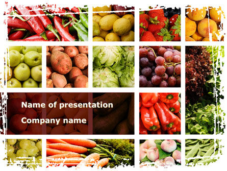 Vegetables Collage PowerPoint Template, 08913, Agriculture — PoweredTemplate.com