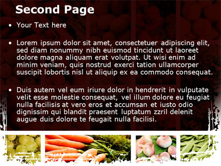 Vegetables Collage PowerPoint Template, Slide 2, 08913, Agriculture — PoweredTemplate.com