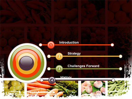 Vegetables Collage PowerPoint Template, Slide 3, 08913, Agriculture — PoweredTemplate.com