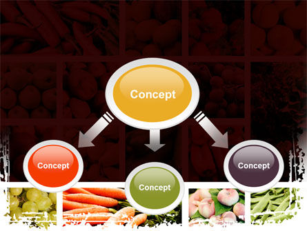 Vegetables Collage PowerPoint Template, Slide 4, 08913, Agriculture — PoweredTemplate.com