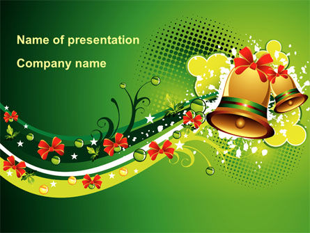 Celebration Bell PowerPoint Template, 08914, Holiday/Special Occasion — PoweredTemplate.com